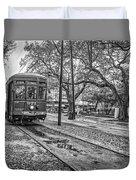 St. Charles Streetcar Monochrome Duvet Cover