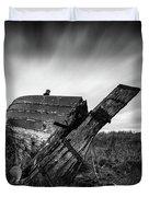 St Cyrus Wreck Duvet Cover