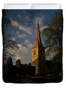 St Davids Church At Sundown Duvet Cover