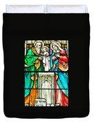 St. Edmond's Church Stained Glass Window - Rehoboth Beach Delaware Duvet Cover