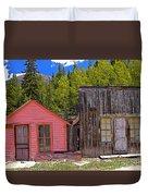 St. Elmo Pink House And Barn Duvet Cover
