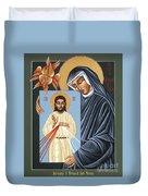 St Faustina Kowalska Apostle Of Divine Mercy 094 Duvet Cover