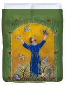 St. Francis And Birds Duvet Cover