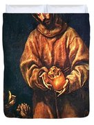 St Francis And Brother Rufus 1606 Duvet Cover