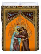 St. Francis And The Sultan - Rlsul Duvet Cover
