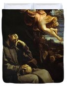 St Francis Consoled Duvet Cover