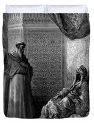 St Francis Of Assisi 1877 Duvet Cover