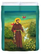 St. Francis Of Assisi Duvet Cover