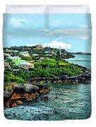 St. George Bermuda Shoreline Duvet Cover
