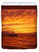 St. George Island Sunset Duvet Cover
