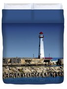 St. Ignace Lighthouse Duvet Cover