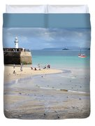 St. Ives, Harbour Beach Duvet Cover