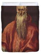 St Jerome As Cardinal Duvet Cover