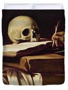 St. Jerome Writing Duvet Cover