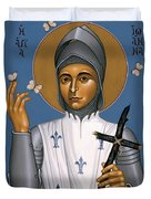 St. Joan Of Arc - Rljoa Duvet Cover