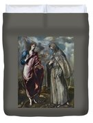 St. John The Evangelist And St. Francis Of Assisi Duvet Cover