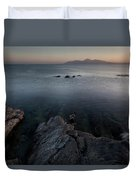 St John's Point ,blue Water  Duvet Cover