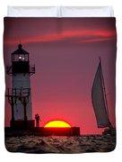 St. Joseph Michigan Sail Duvet Cover