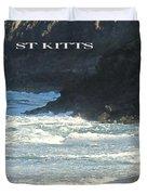 St Kitts Poster Duvet Cover