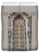 St. Lamberti Church - Stone Relief Duvet Cover