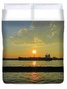 St Lawrence Sunset 3 Duvet Cover