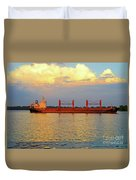 St Lawrence Sunset 5 Duvet Cover