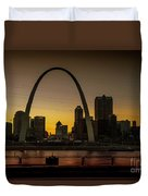 St Louis Arch At Sunset Duvet Cover