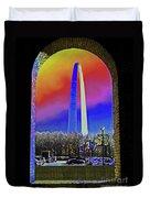 St Louis Arch Rainbow Aura  Duvet Cover
