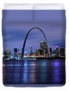 St Louis Black N Blue Duvet Cover