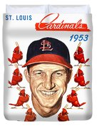 St. Louis Cardinals 1953 Yearbook Duvet Cover
