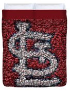 St. Louis Cardinals Bottle Cap Mosaic Duvet Cover