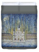 St. Louis  Cathedral And Old Government Buildings Duvet Cover