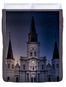 St. Louis Cathedral At Night Duvet Cover