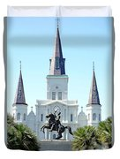 St. Louis Cathedral From Jackson Square Duvet Cover