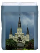 St Louis Cathedral In Jackson Square Duvet Cover