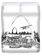 St. Louis Highlights Version 1 Duvet Cover
