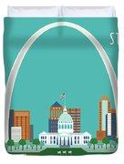 St. Louis Missouri Horizontal Skyline Duvet Cover