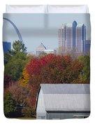 St Louis Skyline From Illinois Duvet Cover