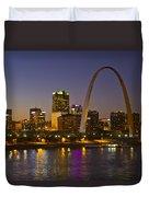 St Louis Skyline From Poplar Street Bridge Duvet Cover