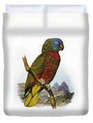 St Lucia Amazon Parrot Duvet Cover