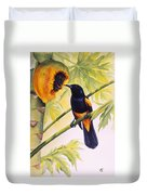 St. Lucia Oriole And Papaya Duvet Cover