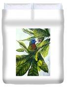 St. Lucia Parrot And Fruit Duvet Cover
