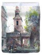 St Martins In The Field Adjacent Trafalgar Square London Duvet Cover