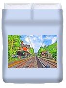 St. Martins Train Station Duvet Cover