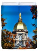 St Mary Atop The Golden Dome Of Notre Dame Duvet Cover