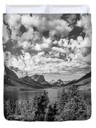 St Mary Lake Glacier National Park Panoramic Duvet Cover