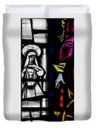 St Mary Redcliffe Stained Glass Close Up C Duvet Cover