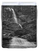 St Mary Triple Cascades - Black And White Duvet Cover