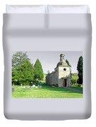 St Mary's Church At Mapleton Duvet Cover
