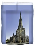 St Mary's Church At Uttoxeter Duvet Cover
